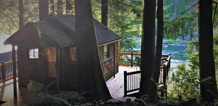 Cedars Nest: Riverfront tiny cottage in the trees