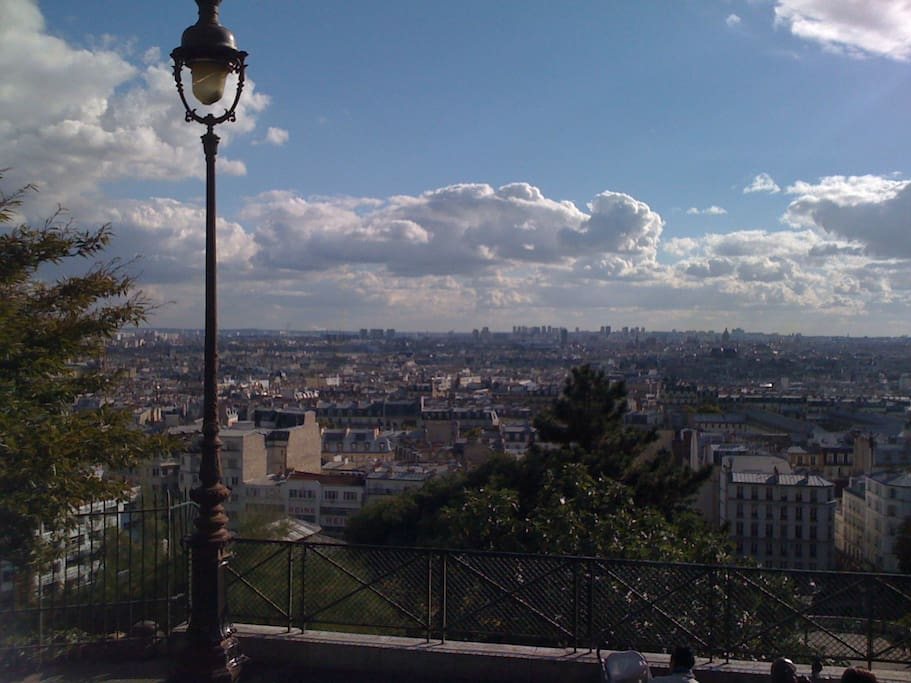 View from Sacre Coeur Montmartre 150m from our apartment