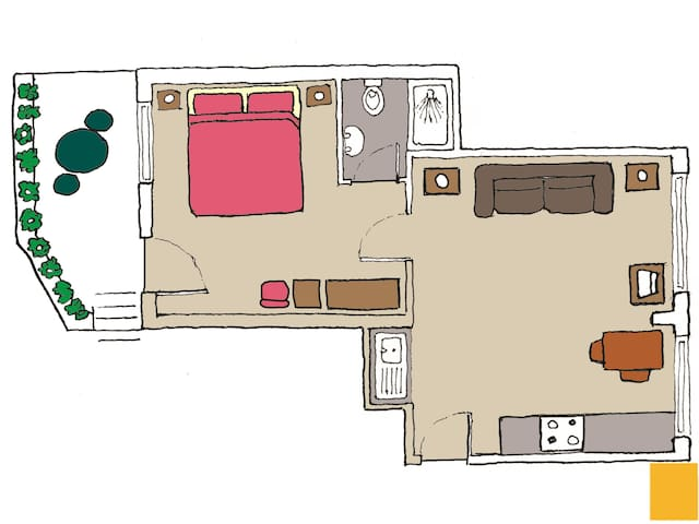 The Den ground floor apartment