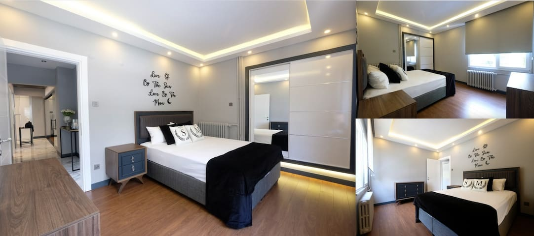 1st bedroom wıth  1.60x2.00 bed  and dressing area