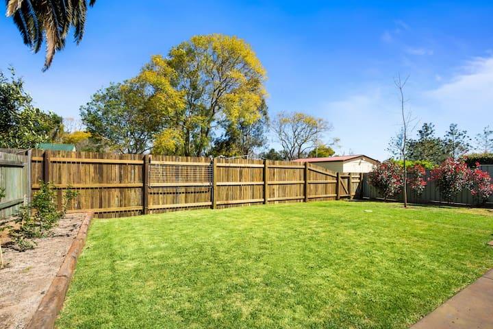 Back fully fenced garden