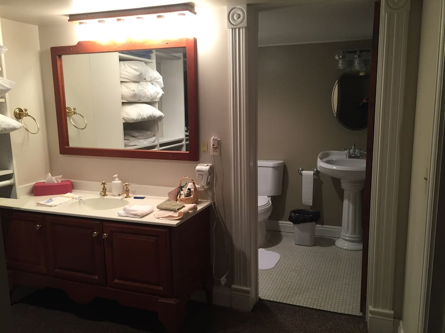 Dressing area and bathroom