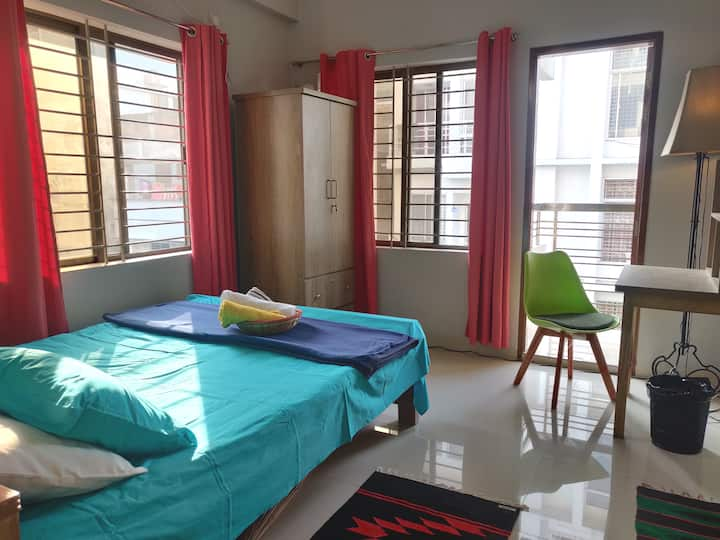 ✽En-suite Room+Safe+AC+Airport+Wifi near Gulshan