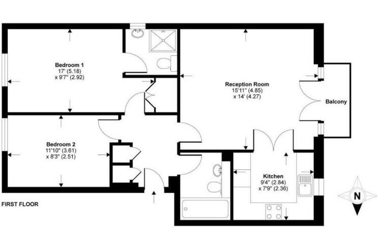 Spacious room with private bathroom in Zone 2