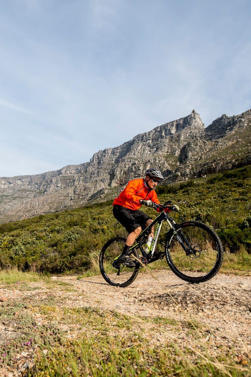 Sunset Biking Under Table Mountain
