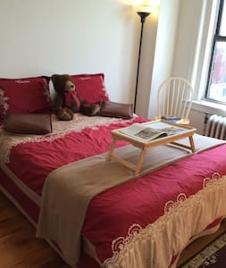 Clean spacious room (20min direct NJTtrain to NYC) - Apartment