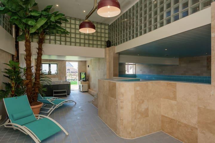 Ländliche Ferienwohnung mit Pool, Sauna und Fitness, in Strandnähe