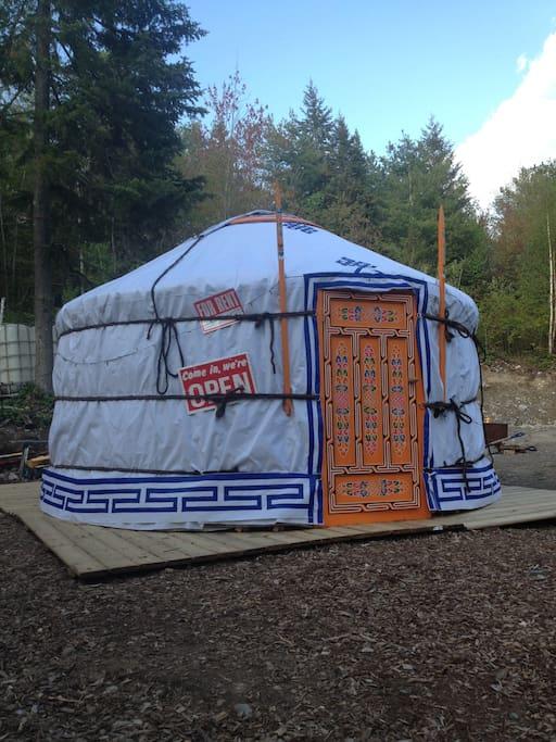 12 ft Mongolian Groovy Yurt for rent / B&B