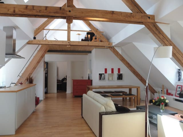 Large, Bright and Quiet Loft in Central Munich - München - Loft