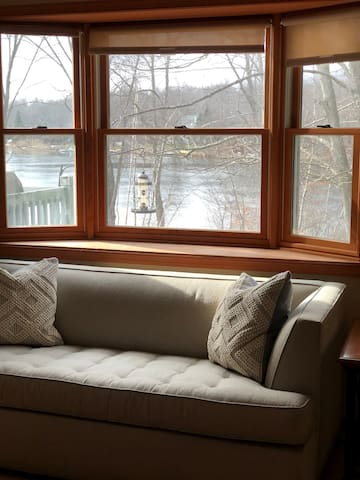 Grab a book and enjoy the lake view.