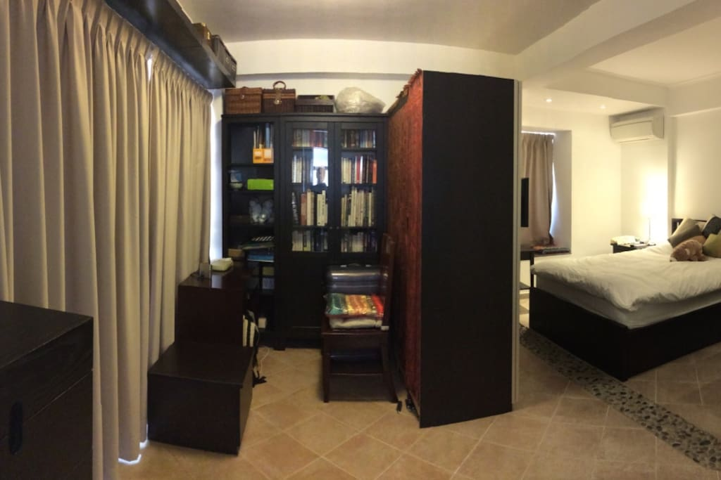 Large Ensuite Master Bedroom with Work Area