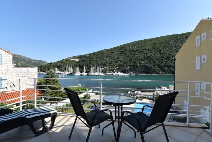 Apartments Pralas 1 (studio with sea & pool view)