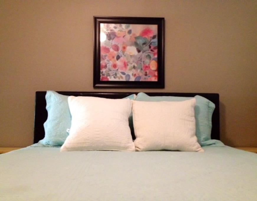 Brand new mattress in each of two bedrooms. Includes closet, ceiling fan, private bath and TV.