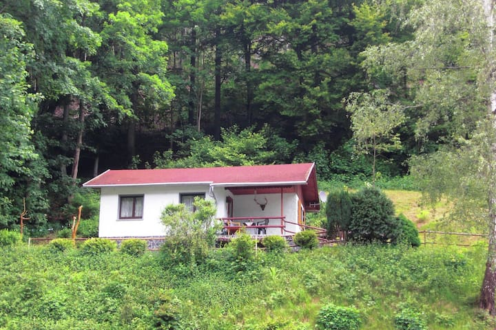 Small, secluded holiday home in Thuringia in a quiet, sunny location on the edge of the forest