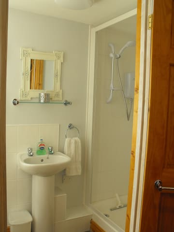 Modern newly fitted shower and WC