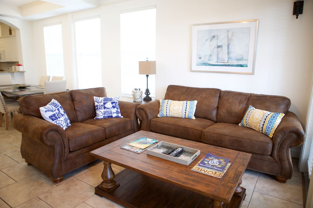 Very comfortable living area with ample sitting space.