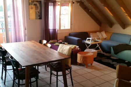 Room in a beautiful and cozy maisonette apartment - Oberrohrdorf