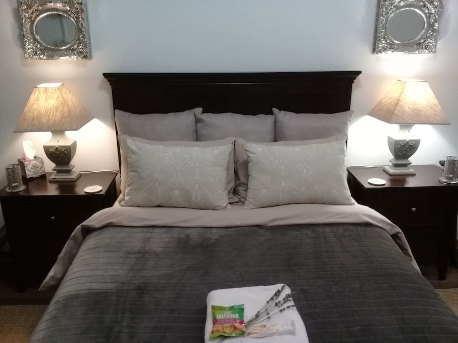 Double bed with good linen