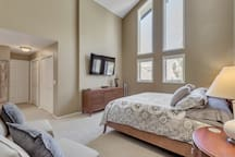 Master bedroom-King bed and lg. screen TV.