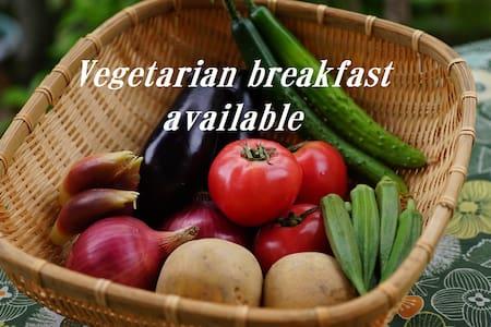 AbbeyRoad Inn Seika <日本的蔬食  Vegetarian Breakfast>