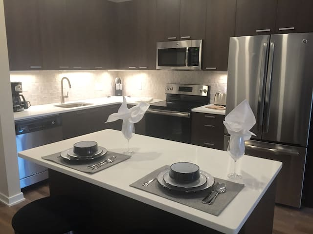 Luxury 2 Bedroom Apartment Near NYC - Hackensack - Flat