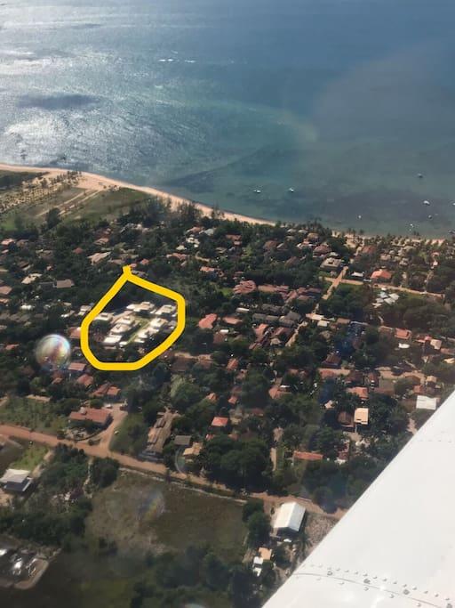 Localização do condomínio em destaque amarelo