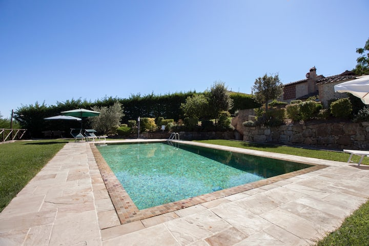 Apartment CHIANTI with view and swimming pool