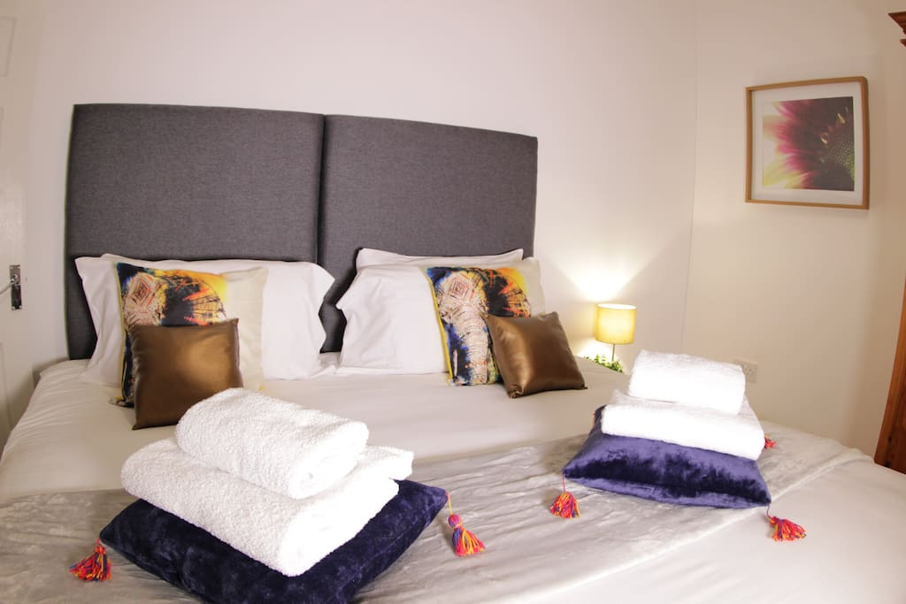 Bedroom One, Options available for one Super King size or two single beds.