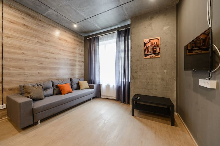 Modern loft style apartment in Pechersk