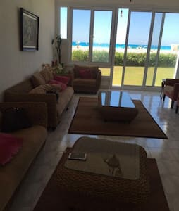 Beach front nicely furnished villa
