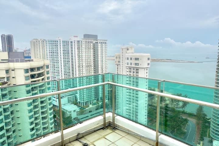 Gurney Drive Sky Breeze Sea View 1R1B @Mansion One