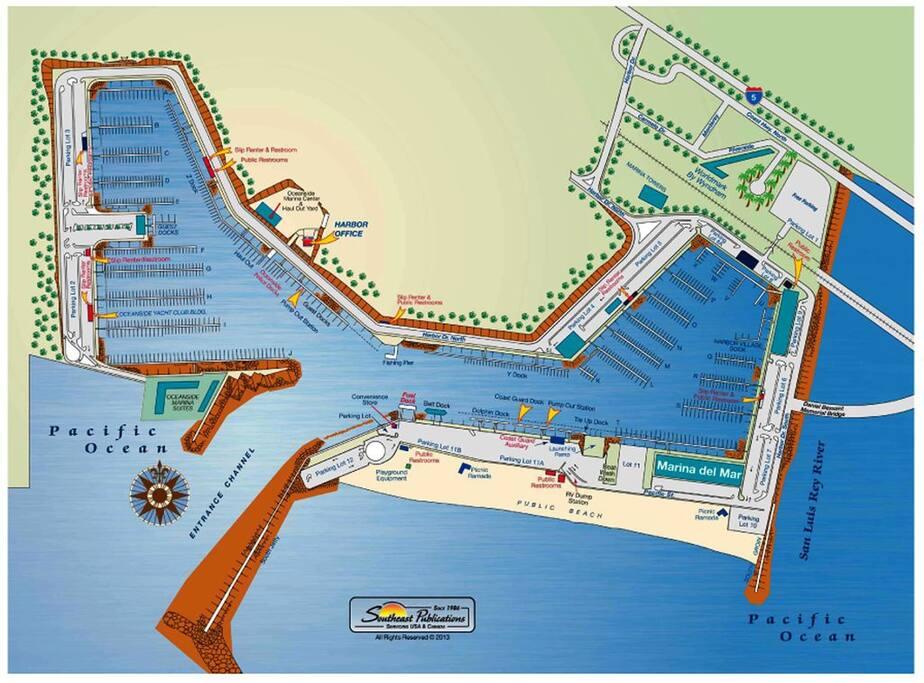 Oceanside Harbor Map