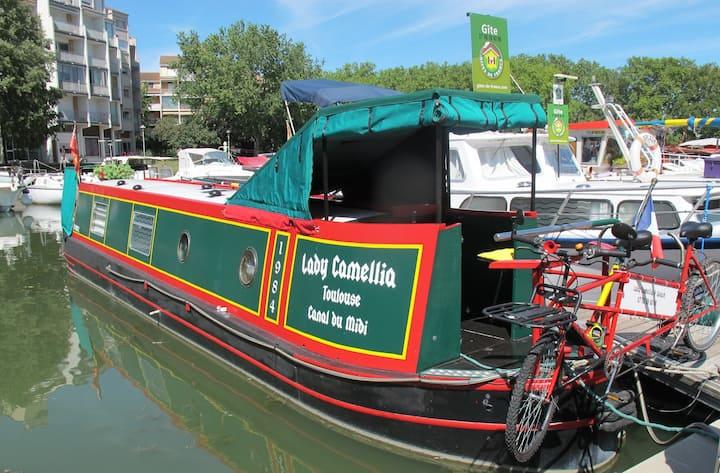 Atypique péniche anglaise - Canal du Midi - 3 épis