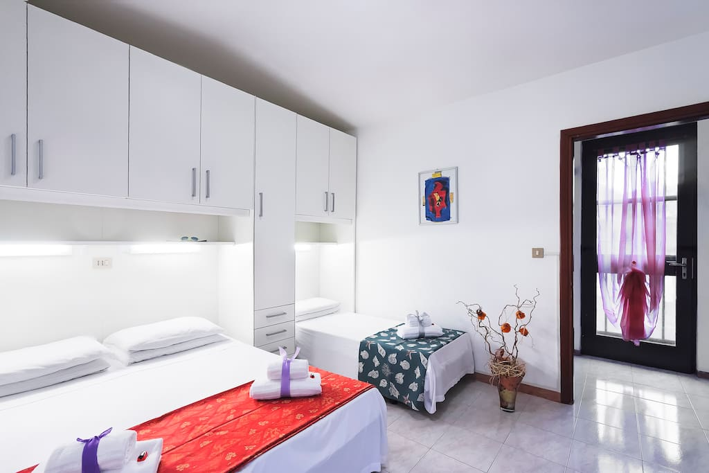 1 bedroom with double and single bed, plus a plenty of space to fit your clothes