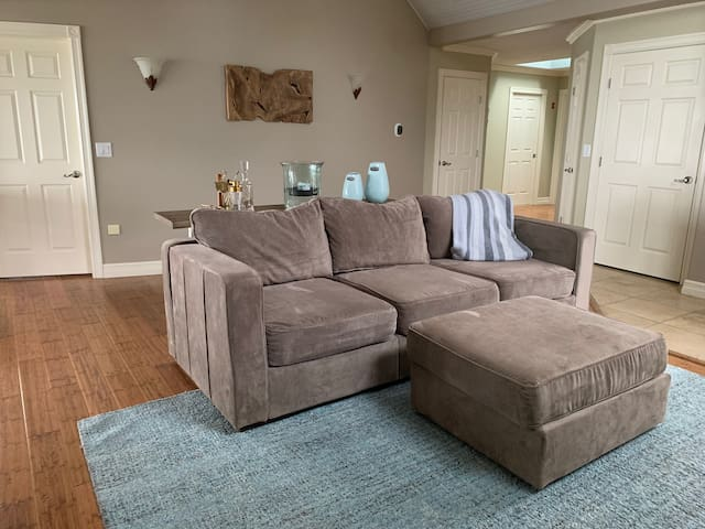 Living Room - LoveSac Couch convertible to queen size bed