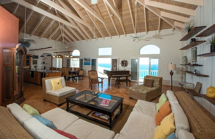 Great Room Looking out to Caribbean Sea