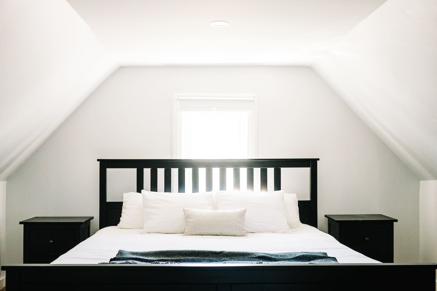 King size bed in the loft.