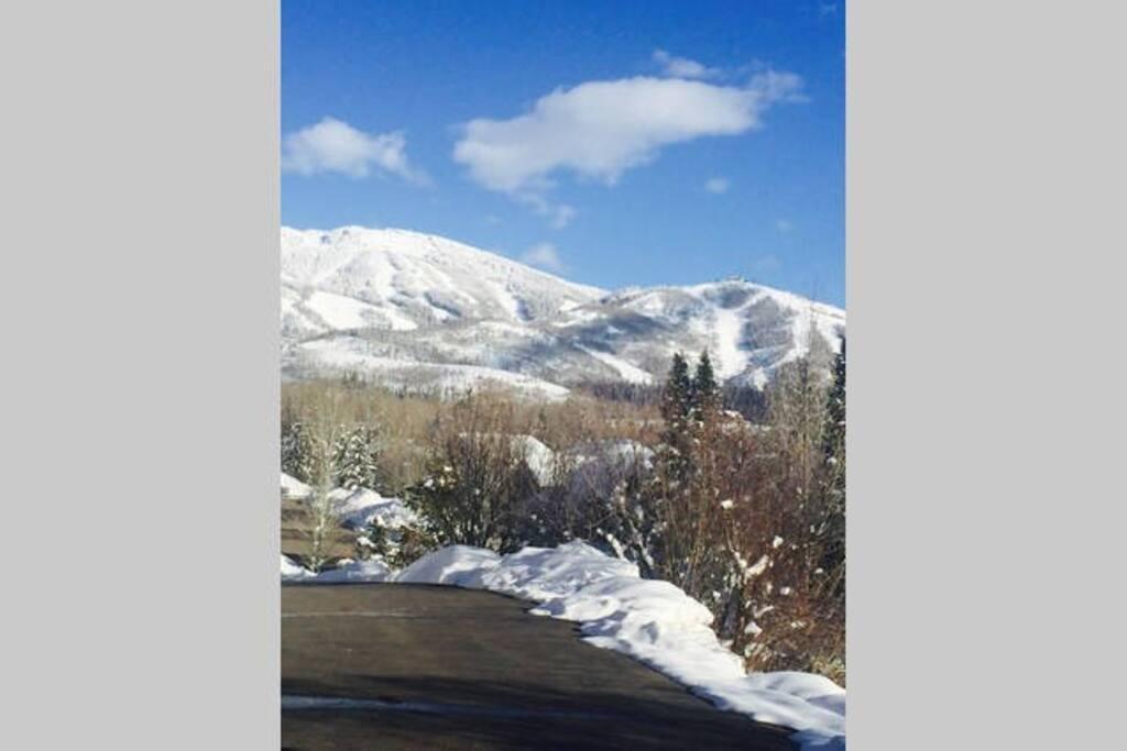 View of ski area from front door