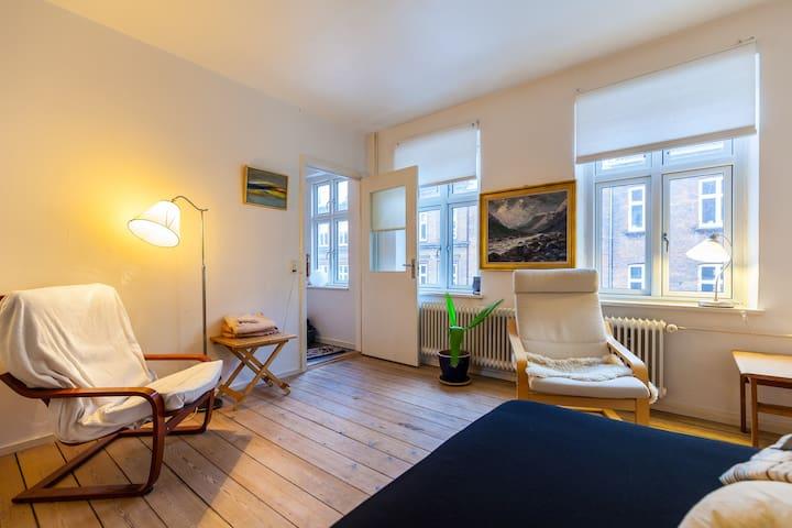 Aarhus C:Big Bright room near uni.+ town center - Aarhus - Appartement