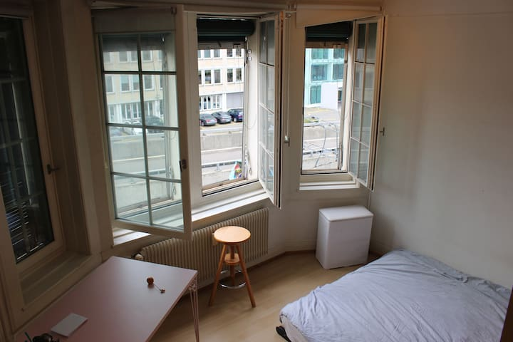 Beautiful bedroom in Zurich center, huge apartment