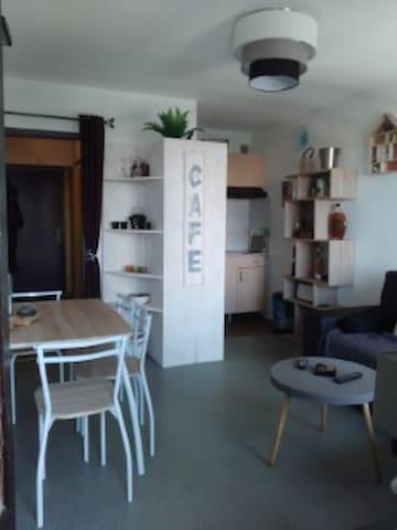 Beau studio face aux montagnes - Jurvielle - Kondominium
