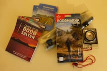 Maps over the local area, compass and som more brochures are available if interested.