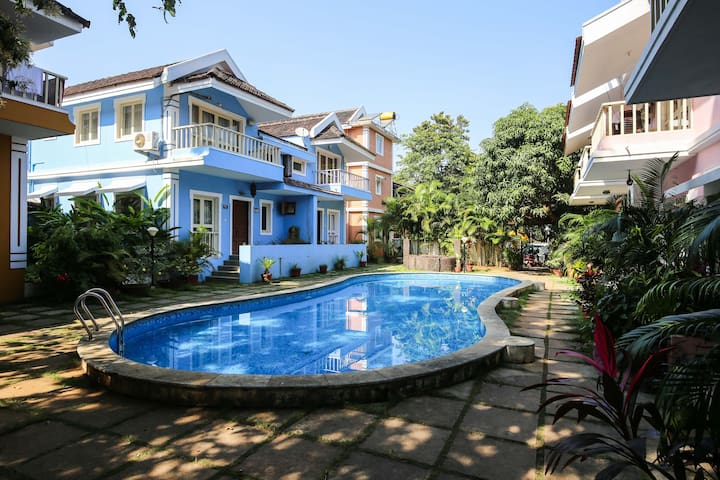 Duplex Villa by the Pool @ Courtyard (Perch) - Vagator