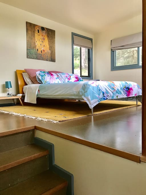 elevated bed room