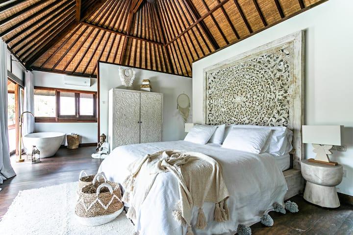 Luxury Designer Villa with Rice Field View