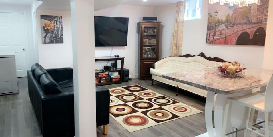 Simcoe family basment apartment