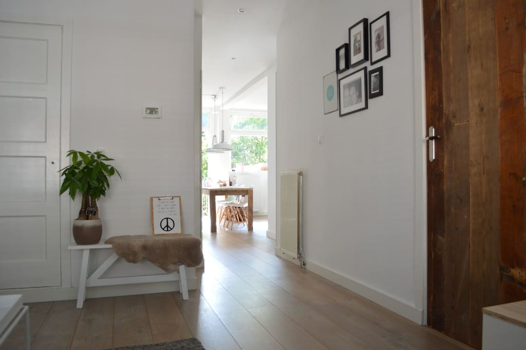 The main hallway to the kitchen & dining table
