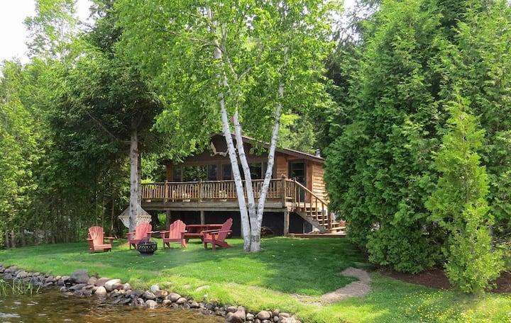 All Season Moose Cabin on Lake Colby, Saranac Lake