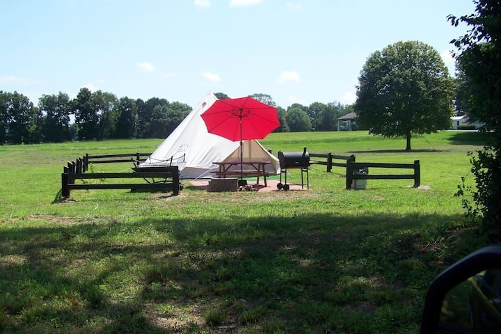 North Star Glamping Tent on Starstruck Farm!