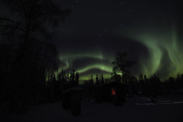 Aurora View/Dog mushing Adventure Cabin for 2